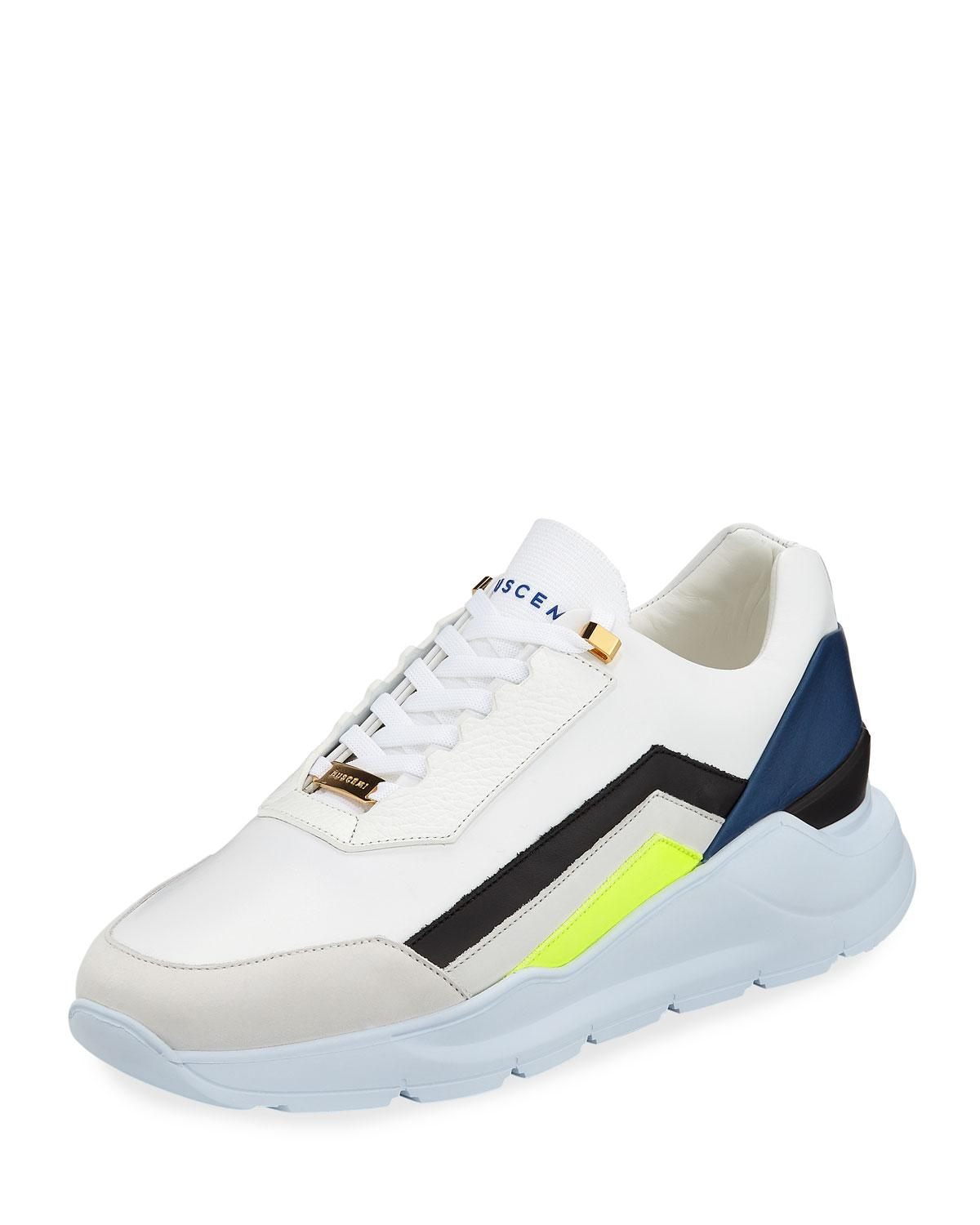 Strada Leather Trainer Sneakers