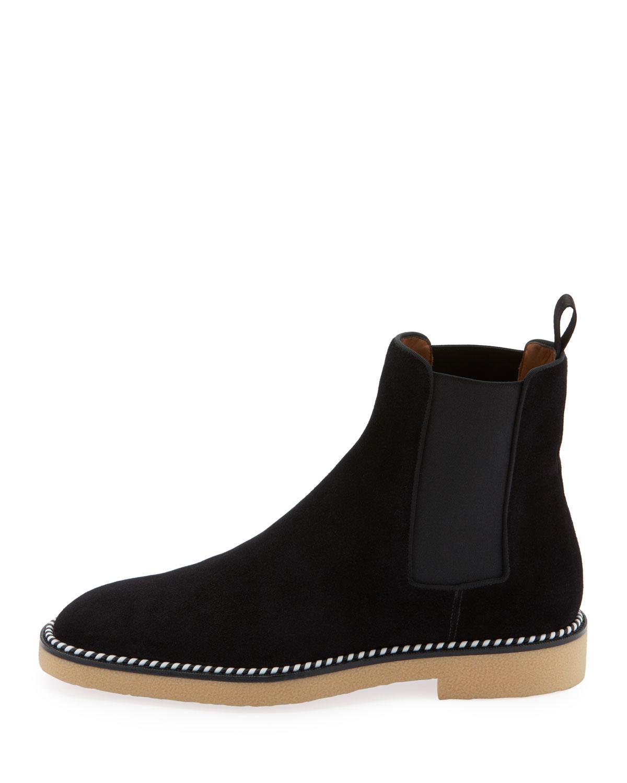 92d120d82fd Black Men's Chelsea Crepe-sole Suede Boots