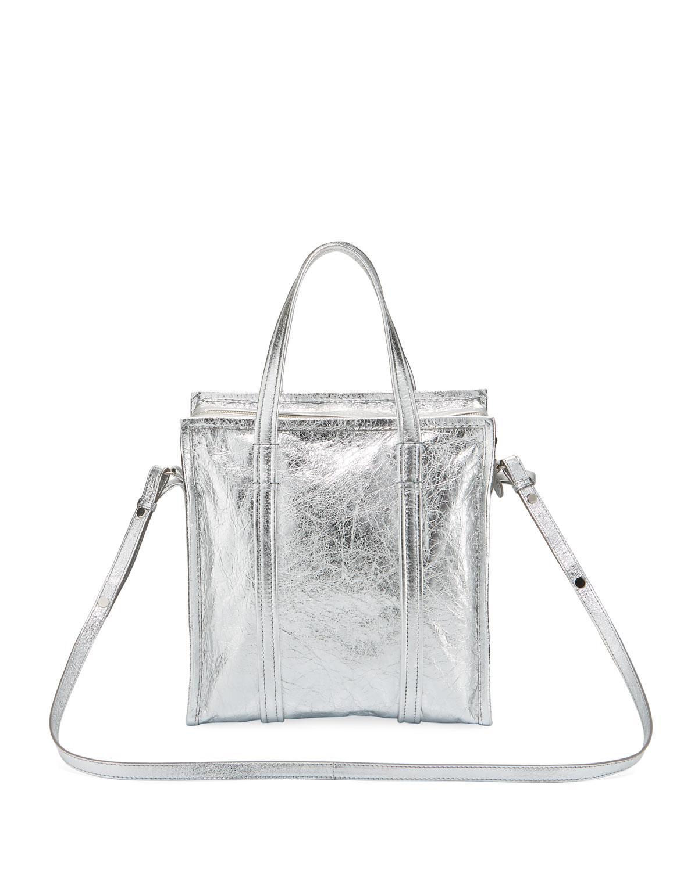 Lyst - Balenciaga Bazar Shopper Small Aj Metallic Leather Tote Bag in  Metallic ba03d173969d4