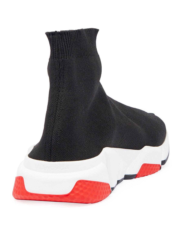 18f4898f06b5 Lyst - Balenciaga Men s Speed Mid-top Trainer Sock Sneakers in Black ...