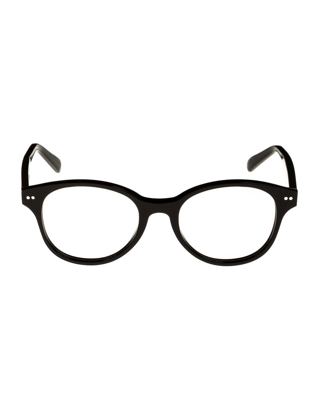 8094641541 Lyst - Céline Round Acetate Optical Frames in Black