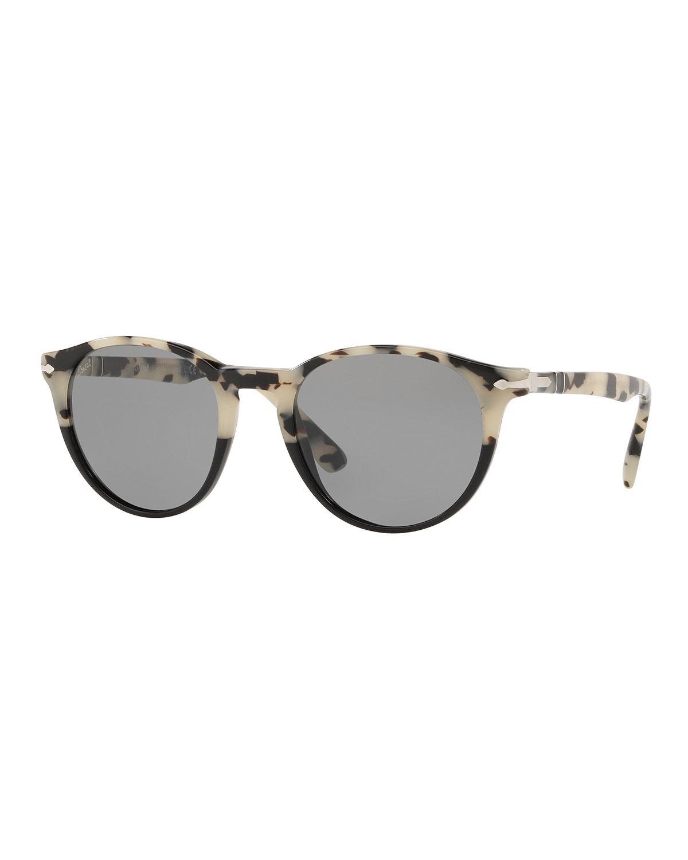 5624d01556da5 Lyst - Persol Men s Po31525 Round Acetate Sunglasses in Gray