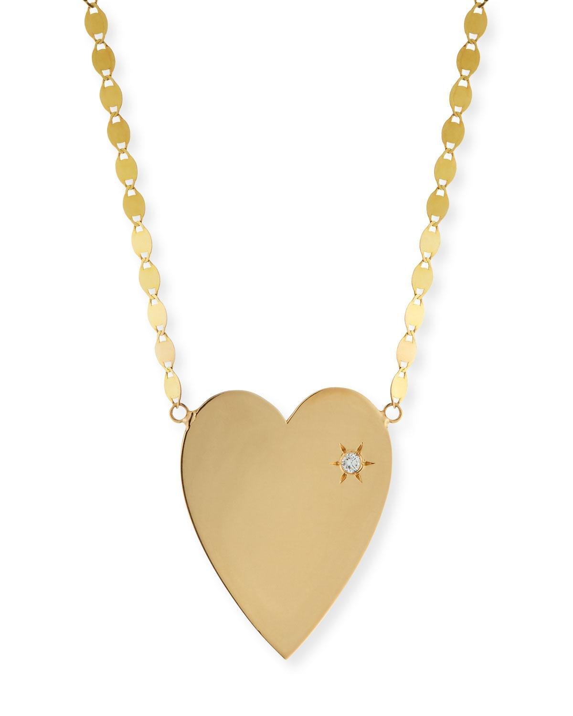 Lana Jewelry 14k Large Pavé Pink Sapphire Heart Pendant Necklace i9vMPnRiE