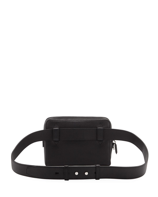 1d71b8d0ad Ferragamo - Black Men s Firenze Gamma Textured Leather Belt Bag for Men -  Lyst. View fullscreen