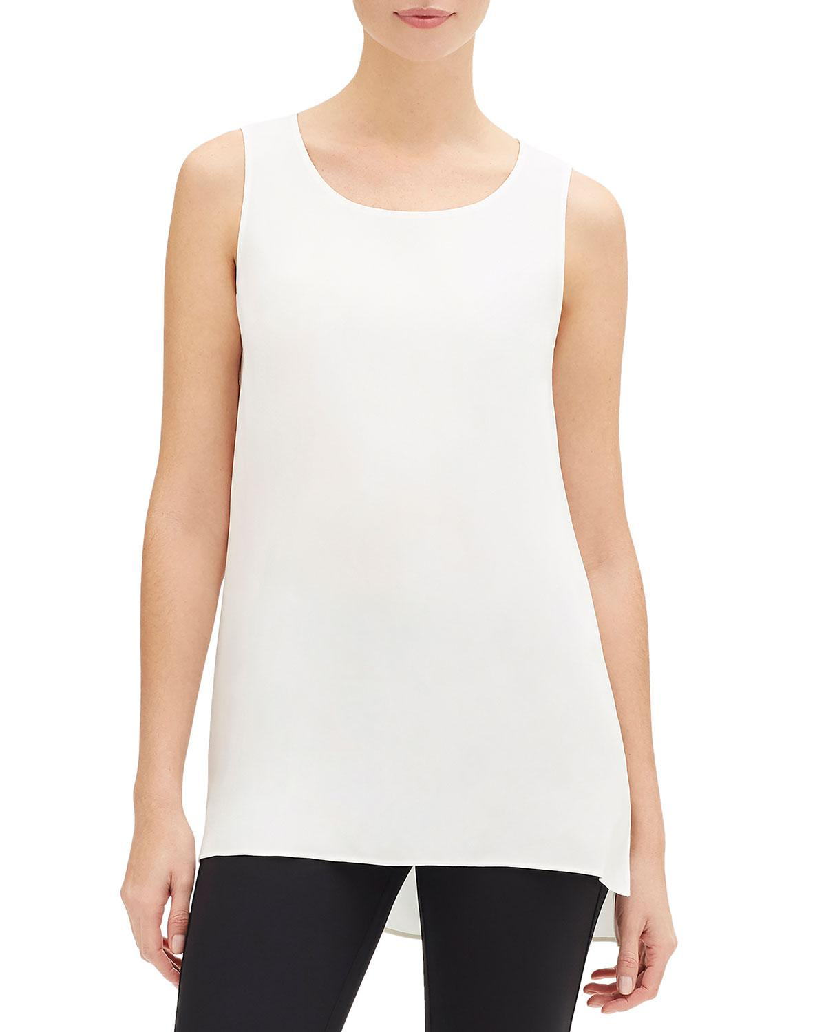 d6a7cd7768f255 Lyst - Lafayette 148 New York Ruthie Sleeveless Matte Silk Blouse in ...