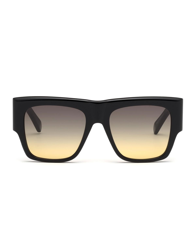 06d979777ec Lyst - Céline Square Chunky Gradient Sunglasses in Black