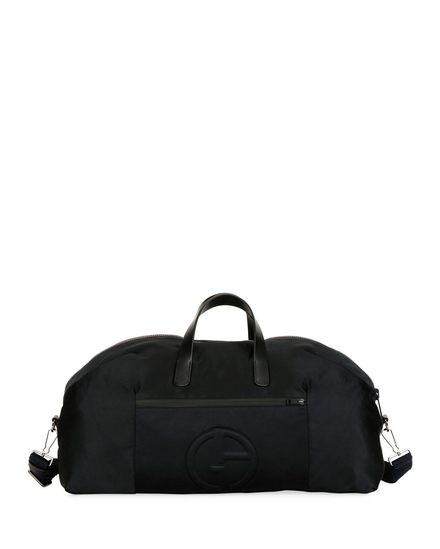 cd51f058c2 Black Men's Nylon Carryall Duffel Bag