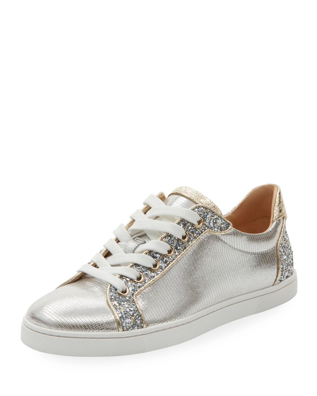 Christian Louboutin Women's Seava Embellished Lizardskin Embossed Sneaker 9xo99n