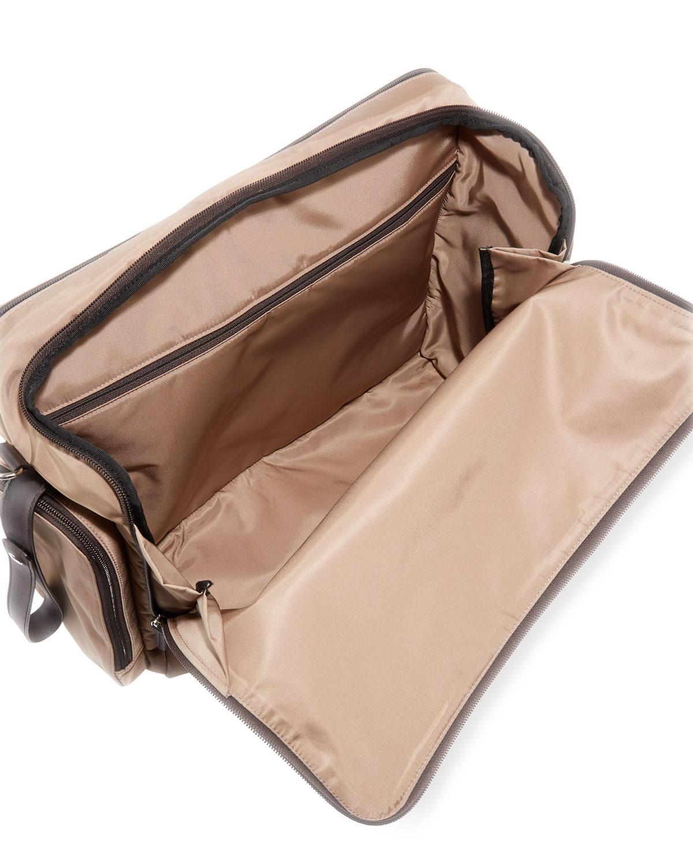 b8f3002fd29 Lyst - Fendi Ff Logo Patch Diaper Bag in Brown