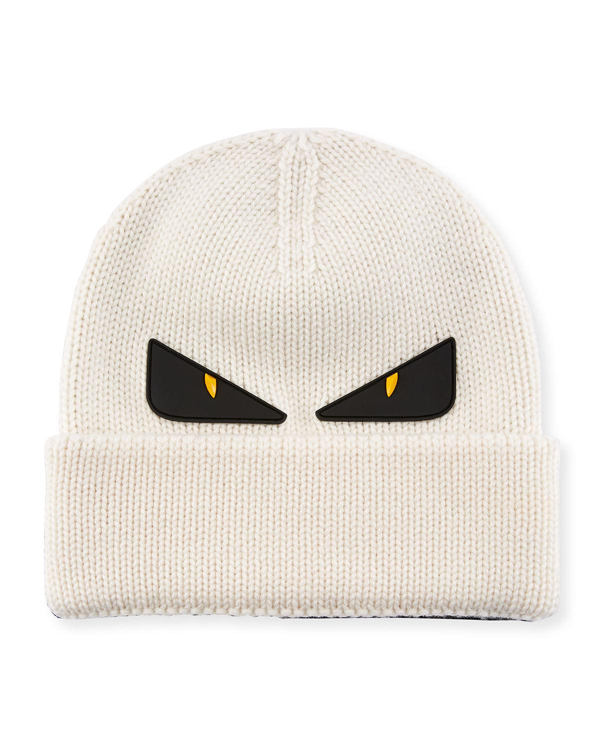 e7682c37c86 Lyst - Fendi Monster Eyes Wool Beanie for Men