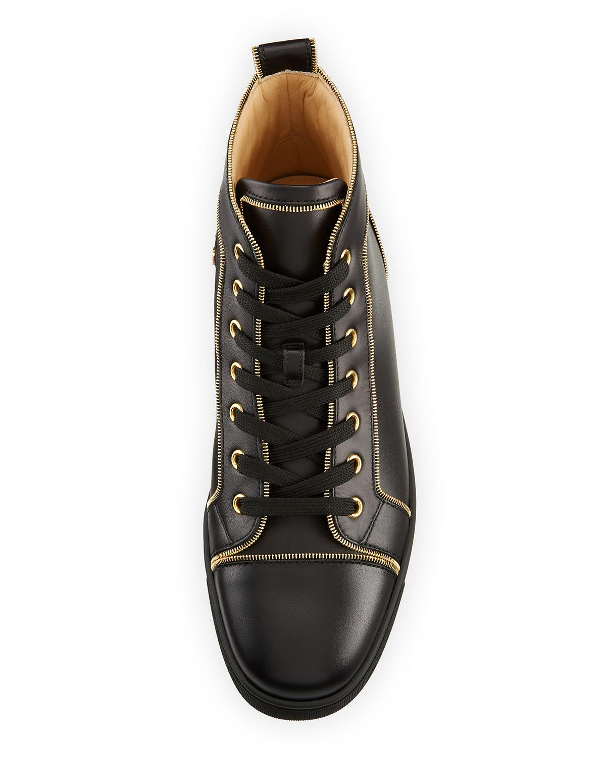 13940cc4e6cf Lyst - Christian Louboutin Louis Z Men s Zip-trim Leather High-top Sneakers  in Black for Men