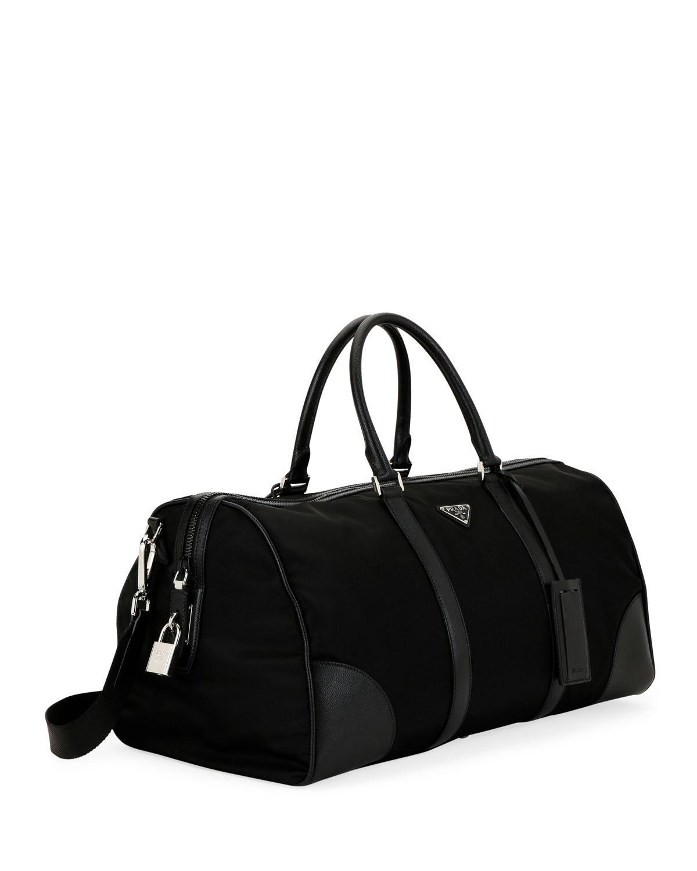 443ef42b0502 ... where can i buy lyst prada mens nylon saffiano duffel bag in black for  men 4ecad