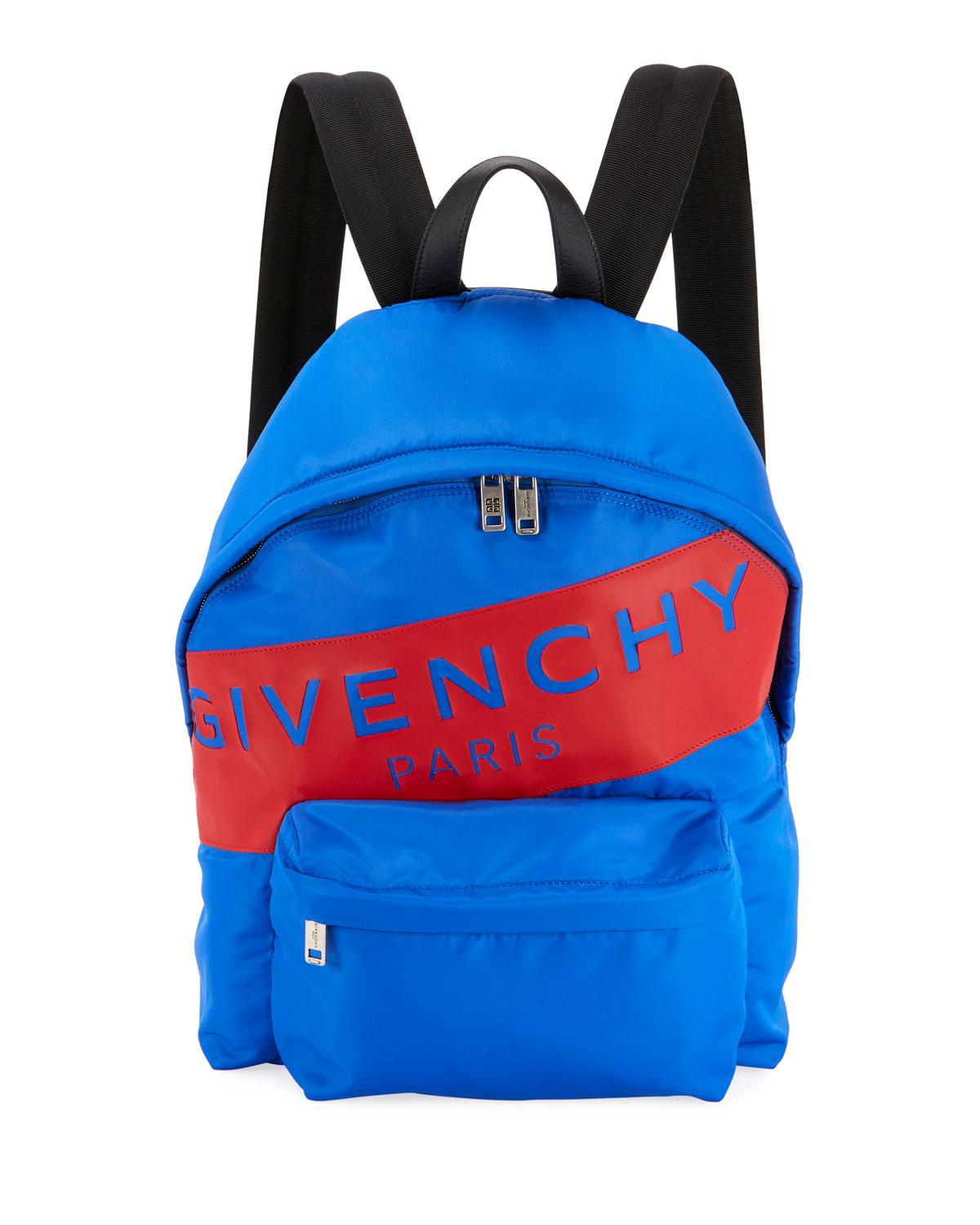 1bfc6ee386b4 Lyst - Givenchy Men s Urban Logo Nylon Zip-around Backpack in Blue ...