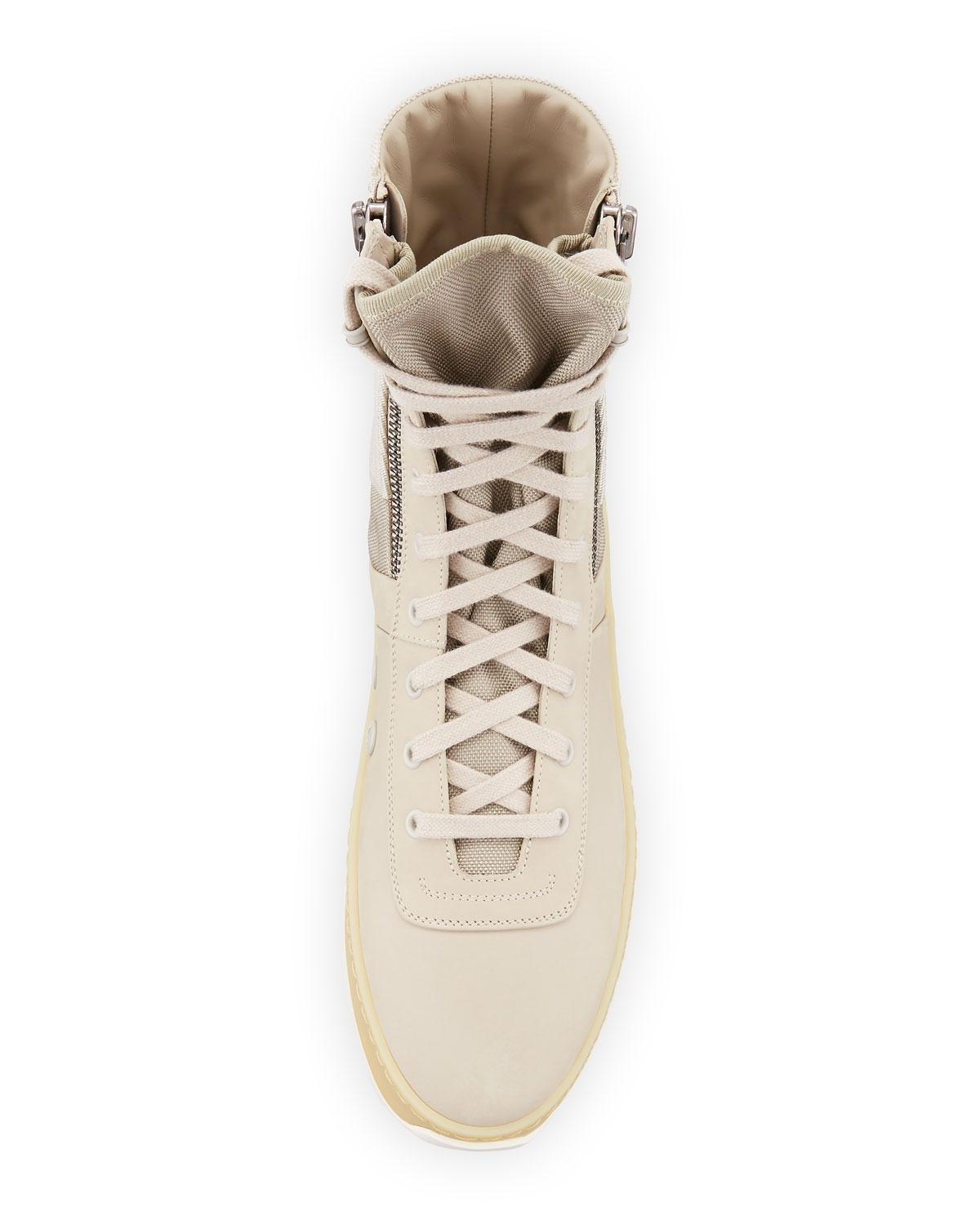 a03a31175b59 Lyst - Fear Of God Men s Leather High-top Military Sneakers in ...