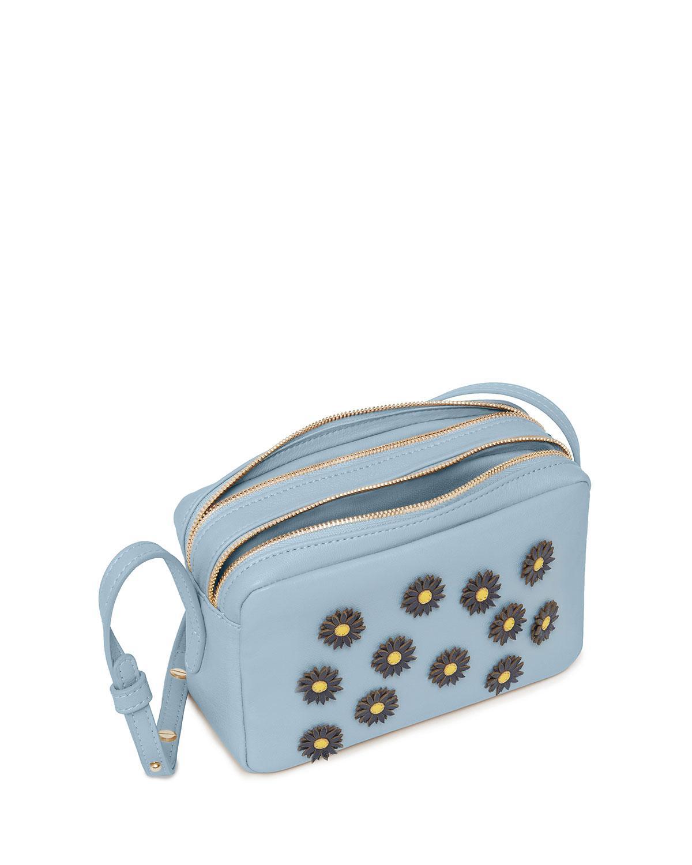 3357922c2 Lyst - Mansur Gavriel Double Zip Crossbody Bag in Blue