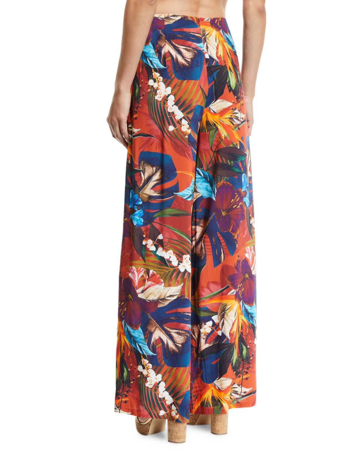 Jets by Jessika Allen Womens Wide Leg Pant Swimsuit Cover Up