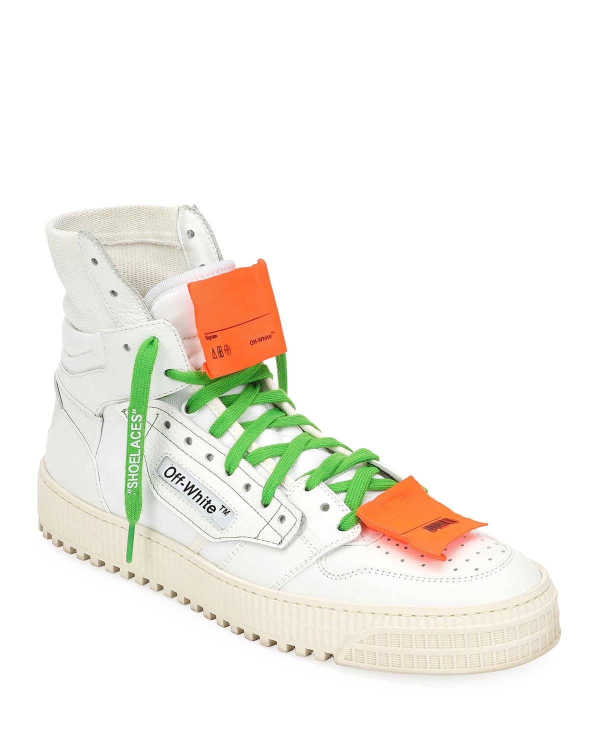5c15f37147dd Off-White c o Virgil Abloh. White Men s Low 3.0 Leather High-top Trainers