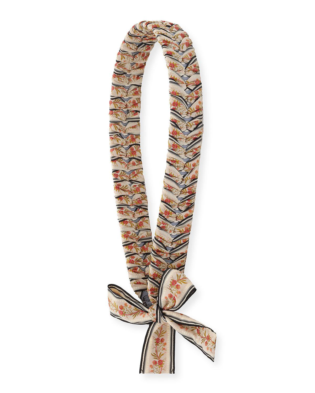 bc5f3f88a96f Lyst - Fendi Strap You Ribbon-laced Shoulder Strap For Handbag in Gray
