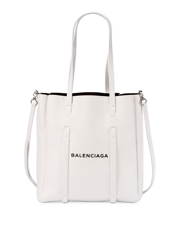 fe4bfa87a78e Balenciaga - White Everyday Small Leather Logo Tote Bag - Lyst. View  fullscreen