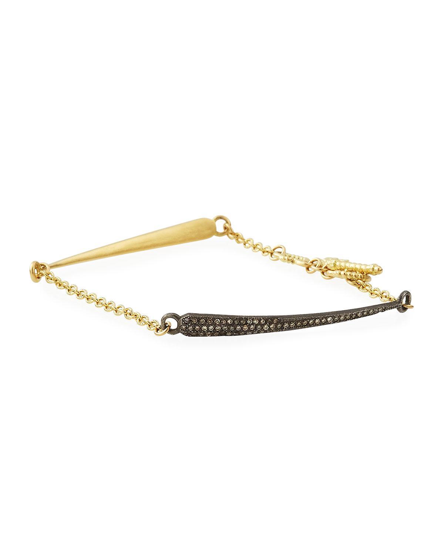 Armenta Old World 18k Gold Hinged Diamond Huggie Bangle Bracelet W8hSBJkUn