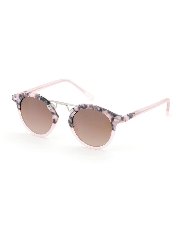 7ed95878ecadb Lyst - Krewe St. Louis Round Two-tone Sunglasses
