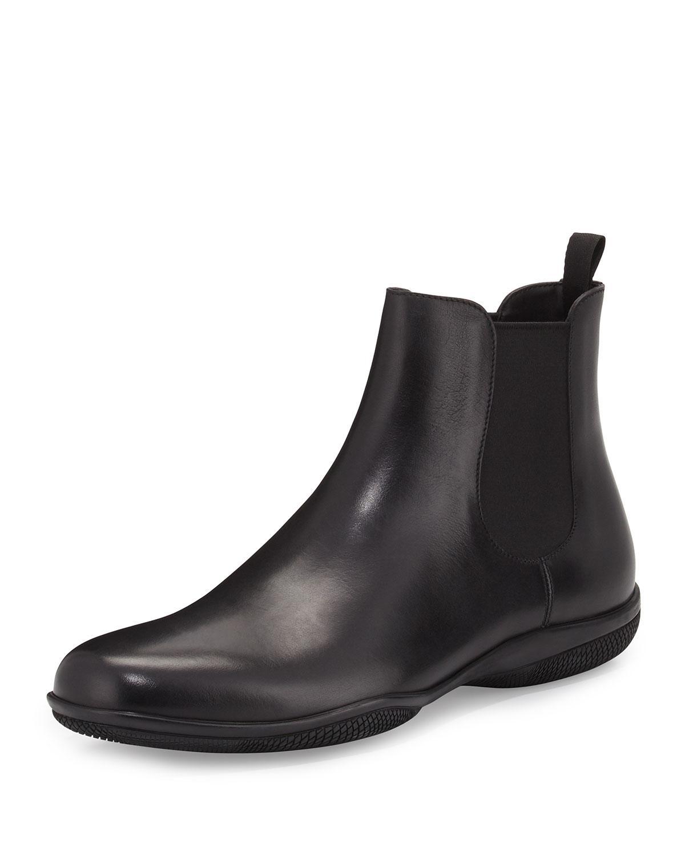 En Vente En Ligne Prix À La Vente Prada Black Formal Double Sole Chelsea Boots Dernières Collections Site Officiel Prix Pas Cher Sortie 2018 BWiR8
