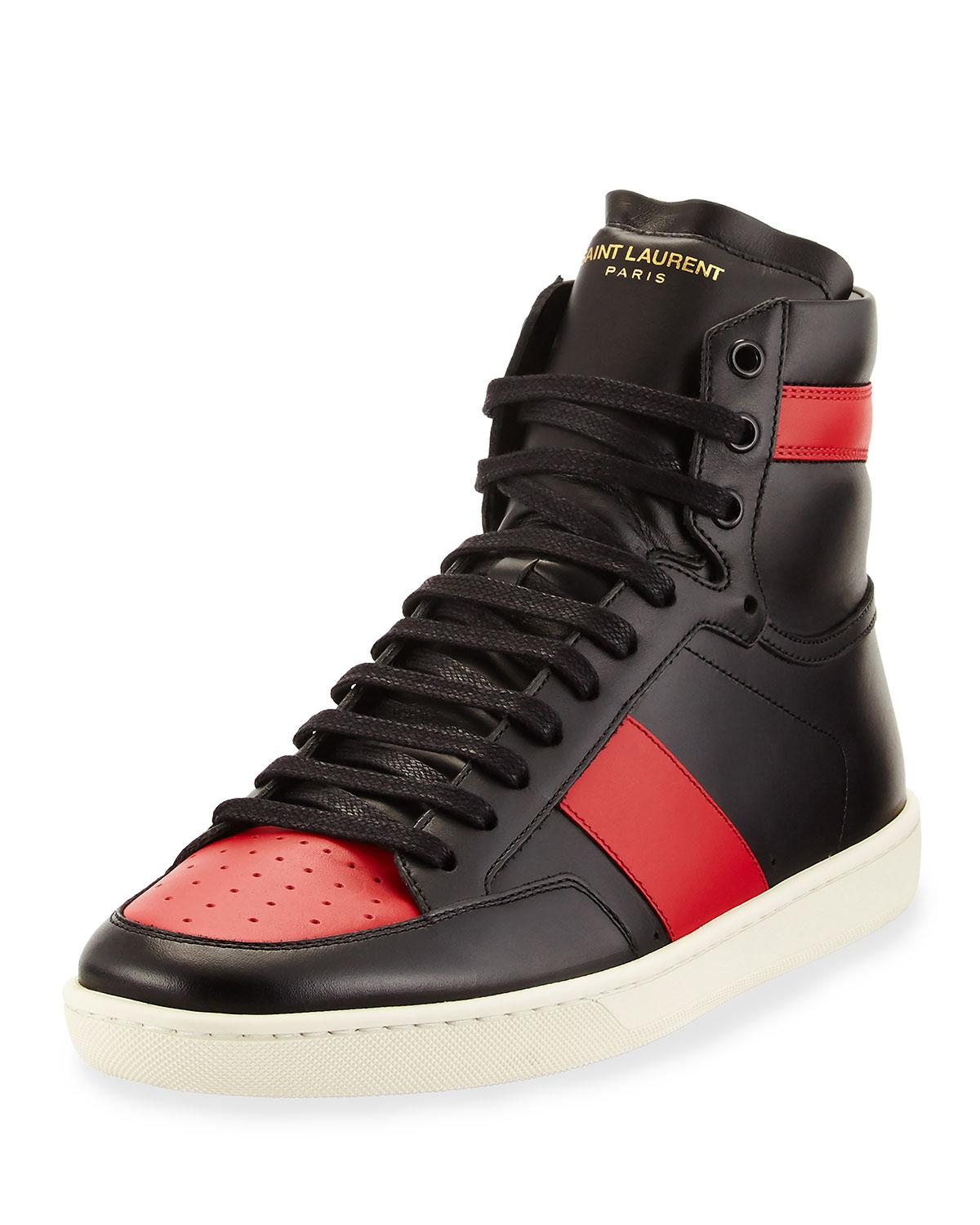 Saint Laurent Two-Toned Leather High