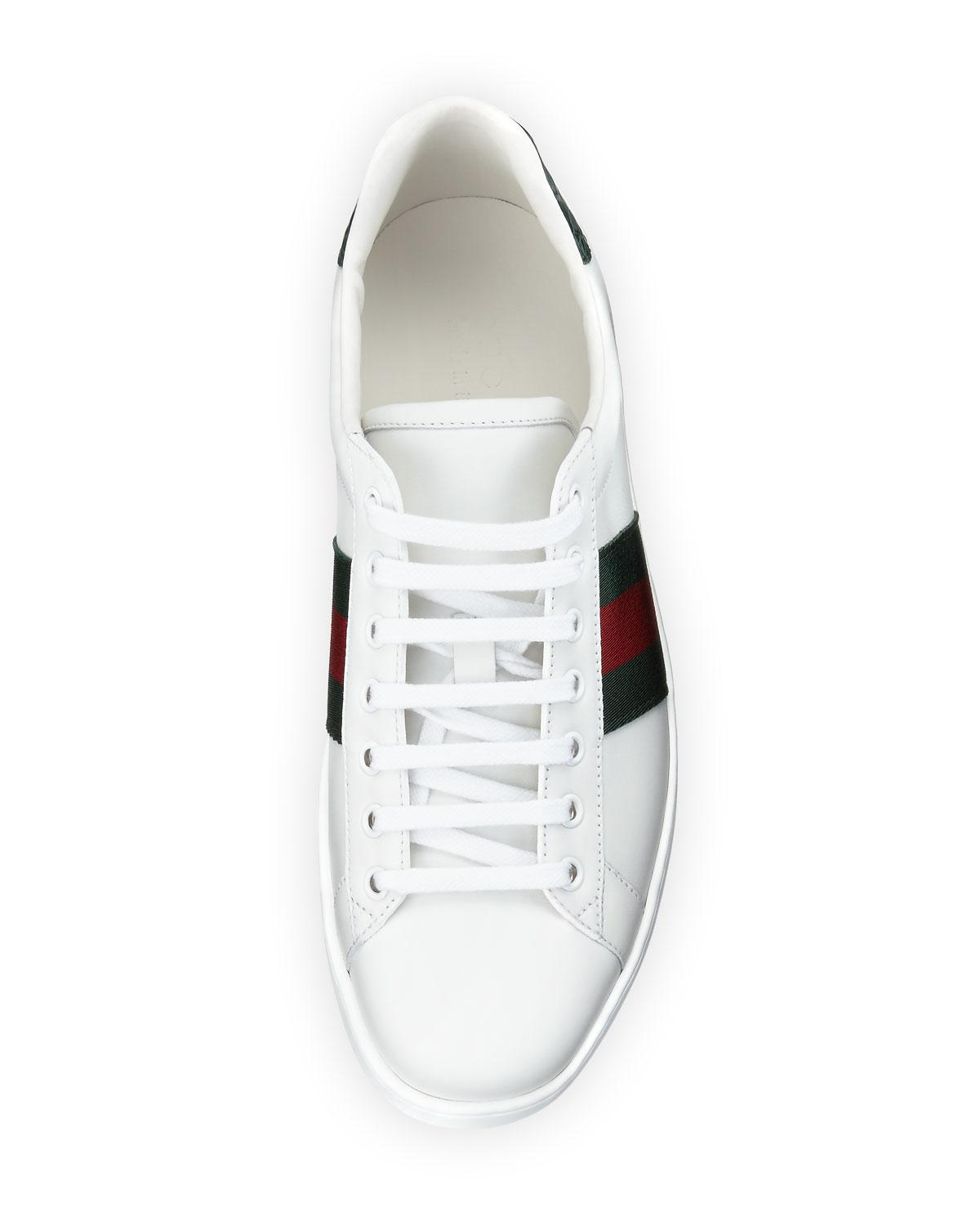 836428b5aea Lyst - Gucci Men s New Ace Leather Low-top Sneakers in White