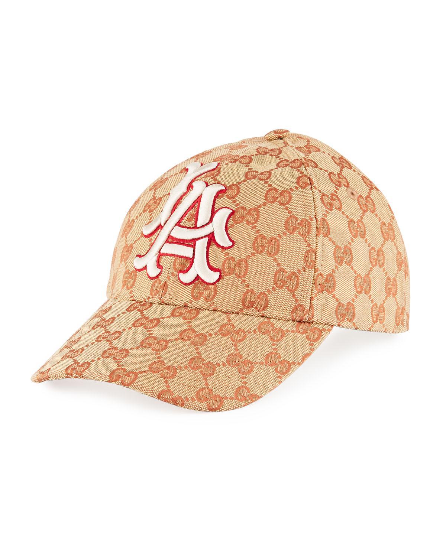 5e00db5965f Gucci. Women s La Angeles GG Supreme Baseball Hat
