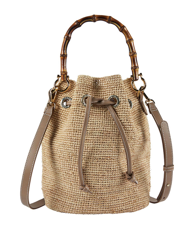 82d1c3851956 Heidi Klein. Women s Savannah Bay Raffia Bamboo Mini Bucket Bag