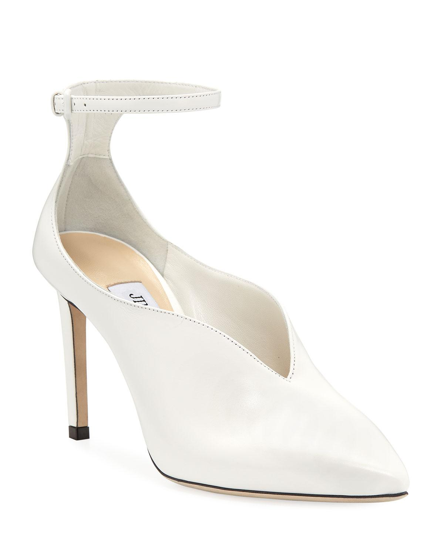 ec5daf69fec Lyst - Jimmy Choo Sonia Leather Ankle-strap Pumps in White