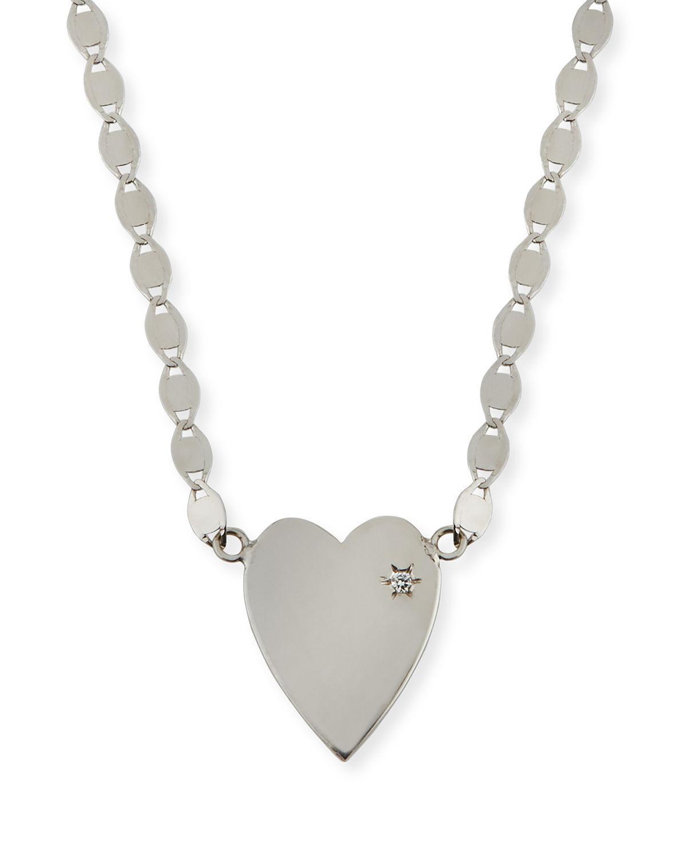 Lana Jewelry 14k Large Heart Pendant Necklace w/ White Diamond w7fO3