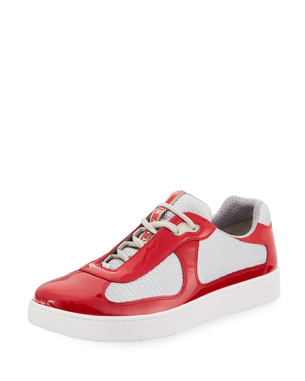 Vernice Low-top Bike Sneaker in Red