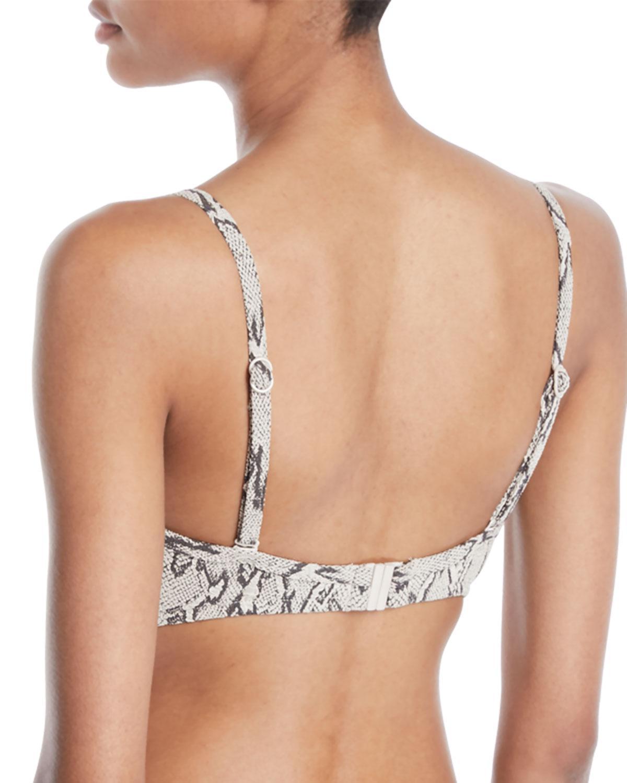 63218840f448a Lyst - Seafolly Wild Side V-wire Snake-print Bikini Swim Top (dd Cup) -  Save 34%