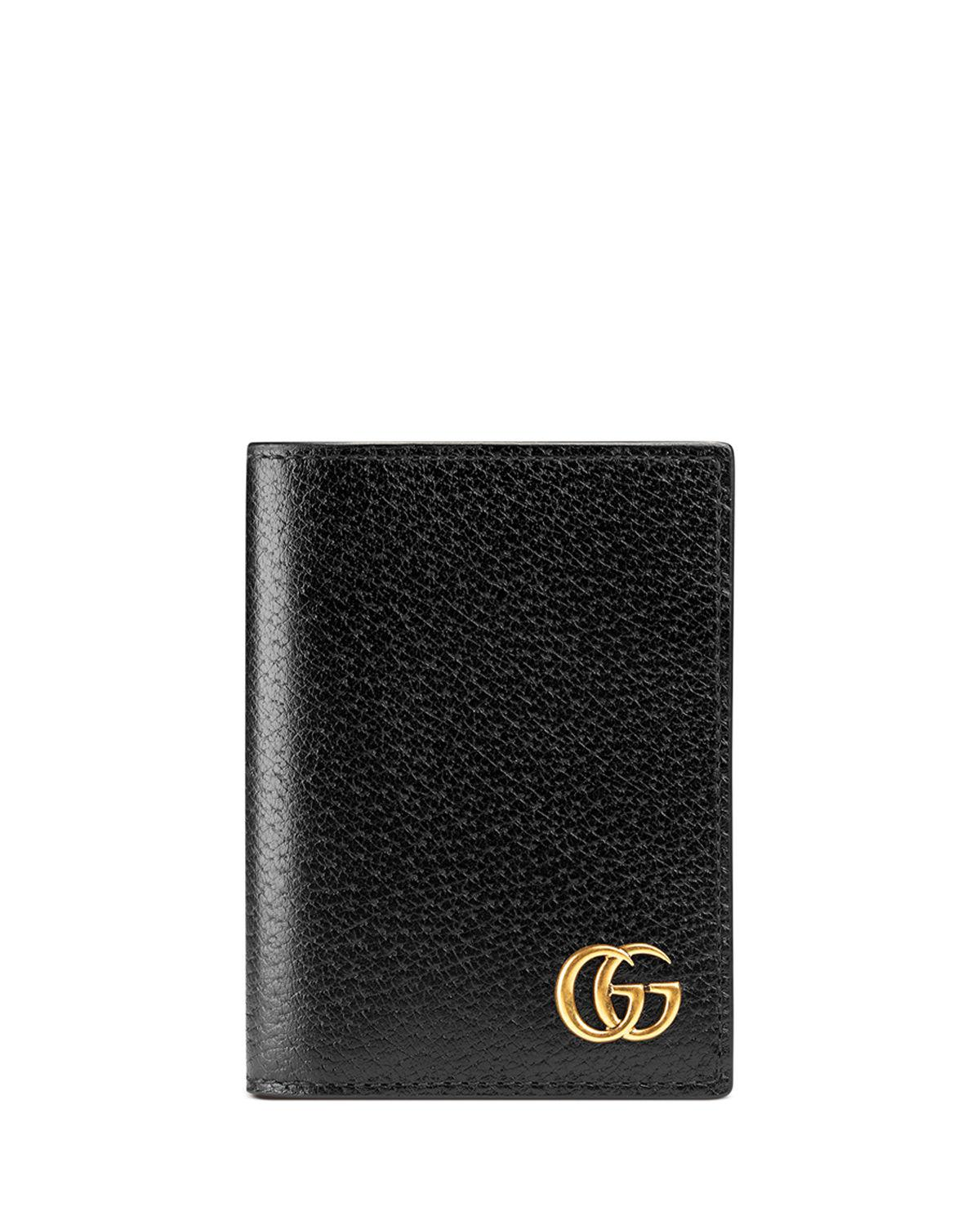a3a863eb8243d Lyst - Gucci GG Marmont Leather Fold-over Card Case in Brown for Men