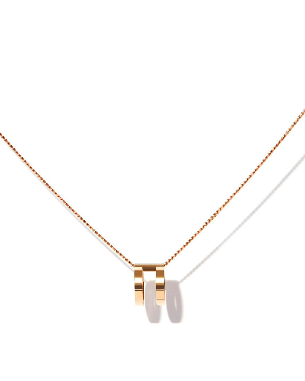 Repossi Technical Berbère Pendant Necklace in 18K Rose Gold zexkd