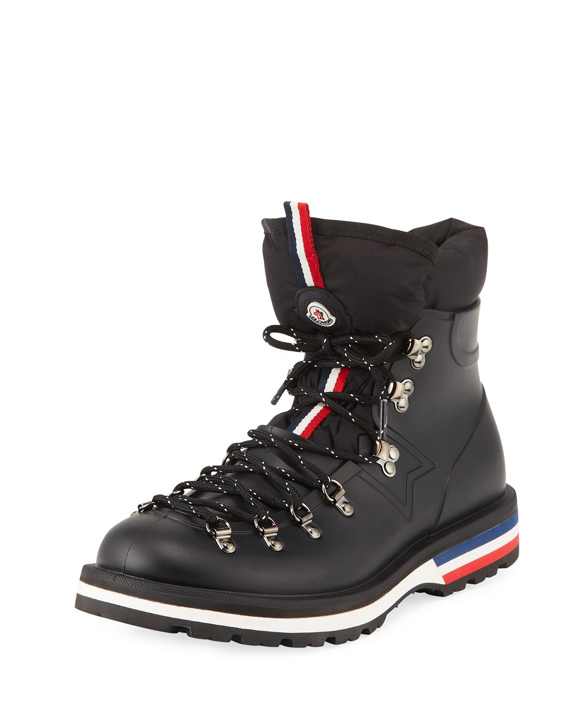 92be0bbbd1c Moncler Men's Henoc Water-resistant Hiking Boots in Black for Men - Lyst