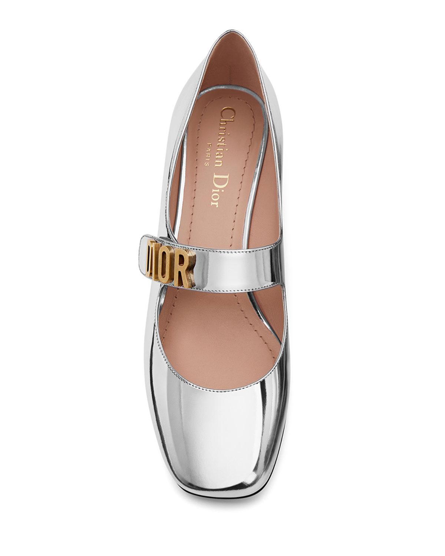 d03145125e0 Lyst - Dior Baby-d Mirror Calfskin Ballet Pump in Metallic