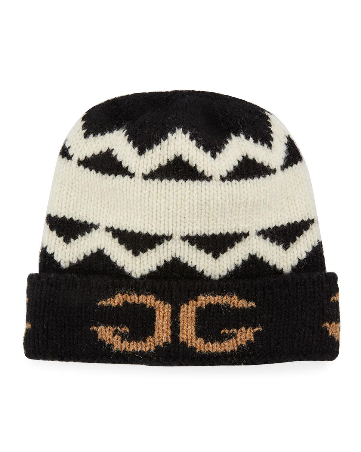 187e19f5 Lyst - Gucci Men's Peruss Logo-knit Beanie Hat in Black for Men