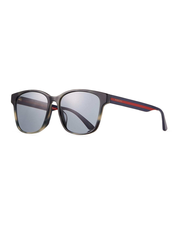 40869683f4 Lyst - Gucci Men s Square Acetate Sunglasses in Brown for Men