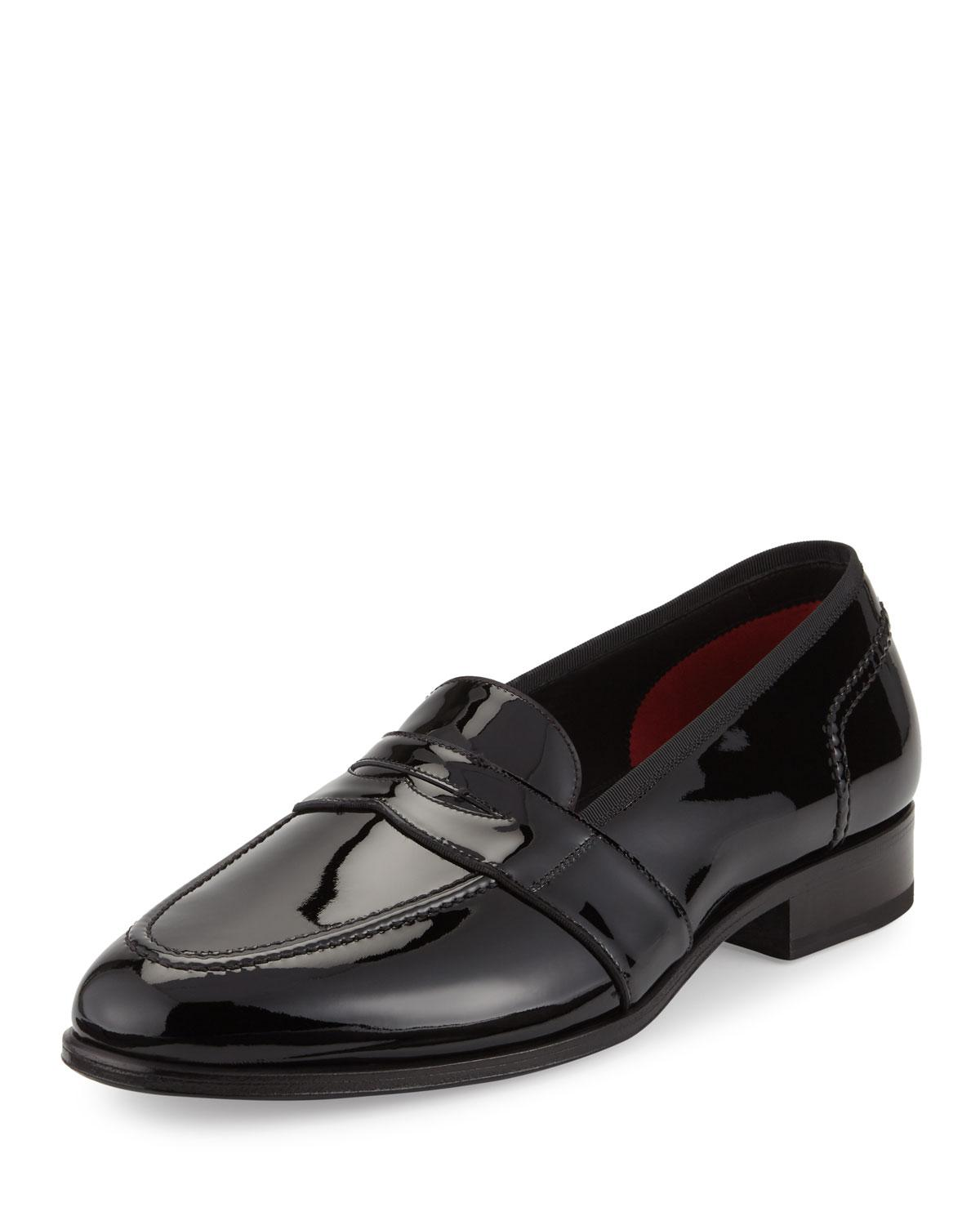 Single-Mong Strap leather black rubber sole Tom Ford V4f1F7