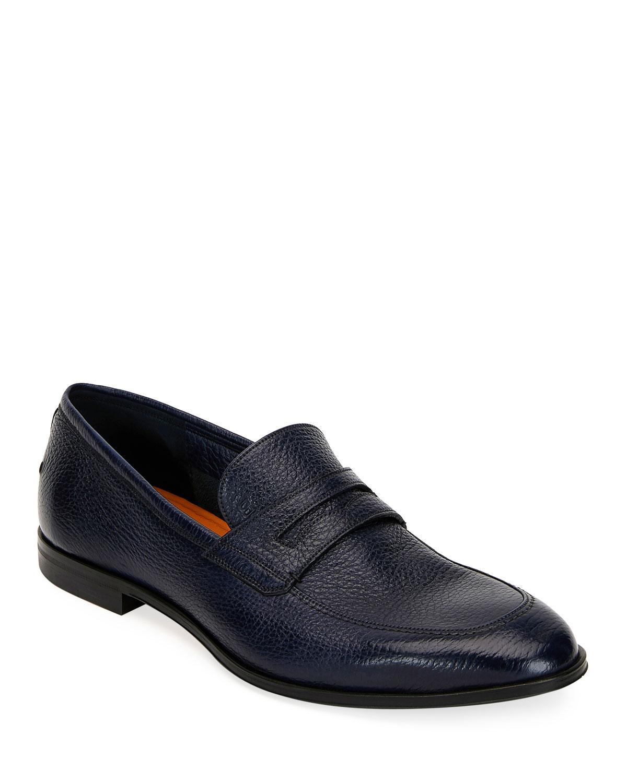 4085e793895 Lyst - Bally Men s Webb Leather Penny Loafers Dark Blue in Blue for Men