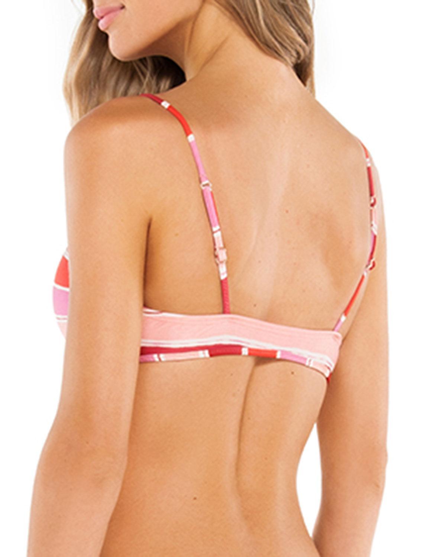 2c83fe115c Lyst - ViX Eva Striped Tie-front Bralette Bikini Top