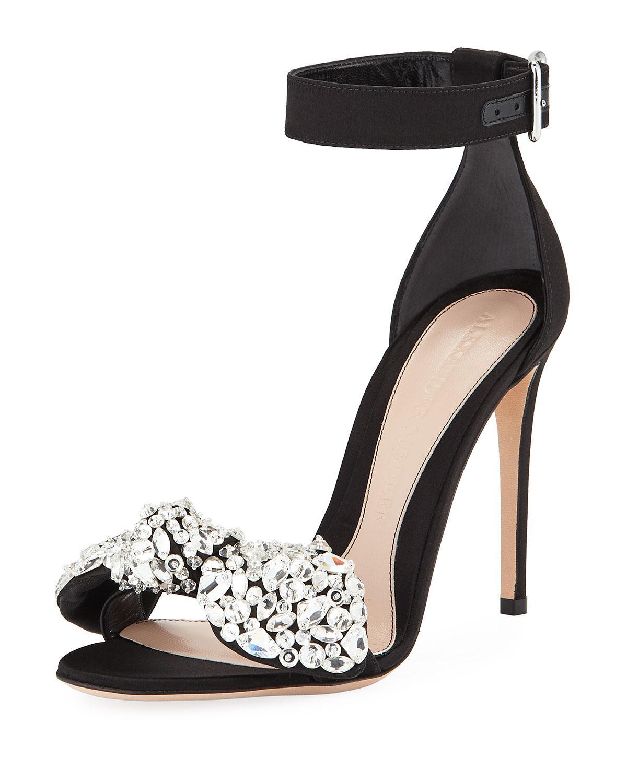 bow detail sandals - Black Alexander McQueen UKc4UDg5Tu