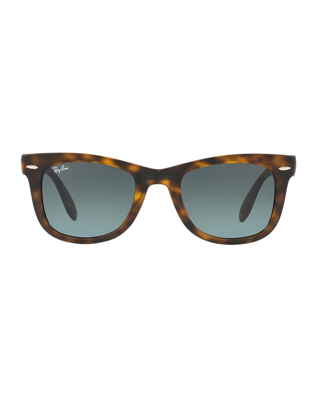 29d495a096 Ray-Ban Men s Wayfarer Folding Sunglasses in Brown - Lyst