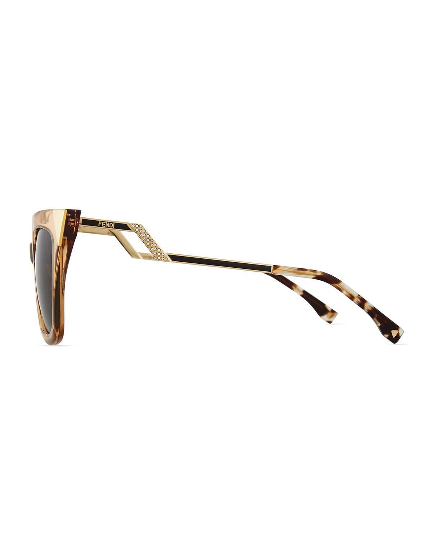 101a656abd5 Lyst - Fendi Iridia Flash Sunglasses With Mirror Lens in Metallic