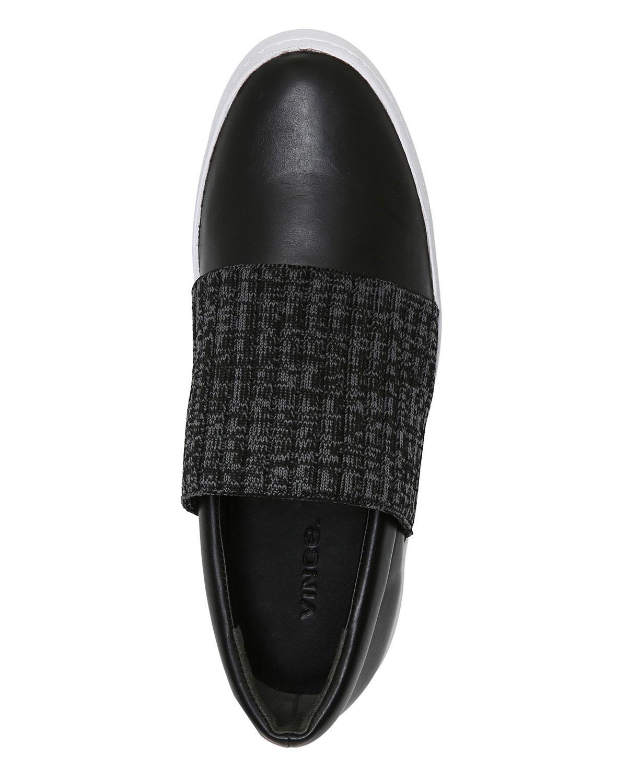 Vince Weadon Leather Knit Platform