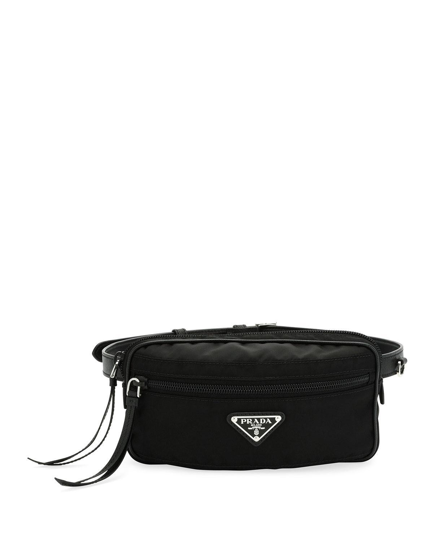 Lyst - Prada Nylon Belt Bag in Black 3c4ffc8fc18da