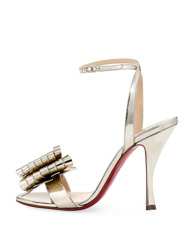 info for ec0f4 3023d Christian Louboutin Miss Valois Metallic Red Sole Sandal