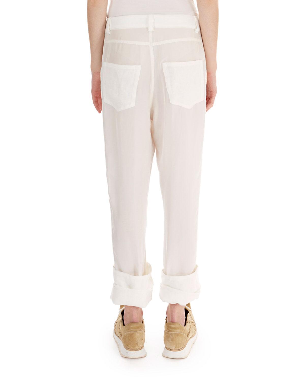 lace fisherman trousers - White Loewe tvo1XLHJBt